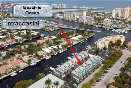 Aqua lofts sold in 2011 aqua lofts townhouses for sale for Boat garage on water