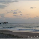 Picture of Sunrise over the Beach in Pompano Beach in South Floirda