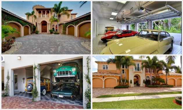 south florida luxury homes with large garages - Garage Homes